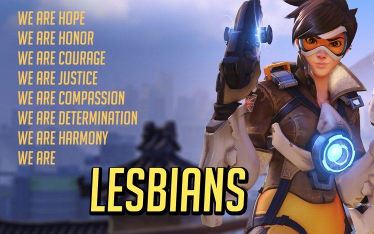 Lesbians Canon Tracer Overwatch Hd Wallpapers Desktop