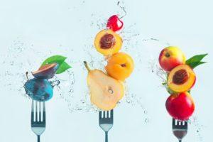 fork, Fruit, Water, Food