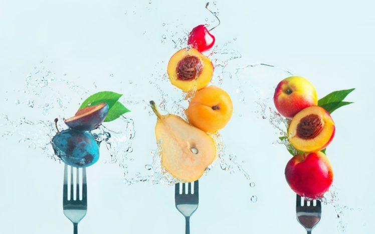 fork, Fruit, Water, Food HD Wallpaper Desktop Background
