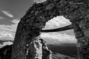ruin, Landscape, Monochrome