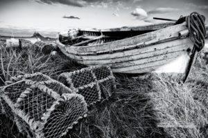 monochrome, Boat, Landscape