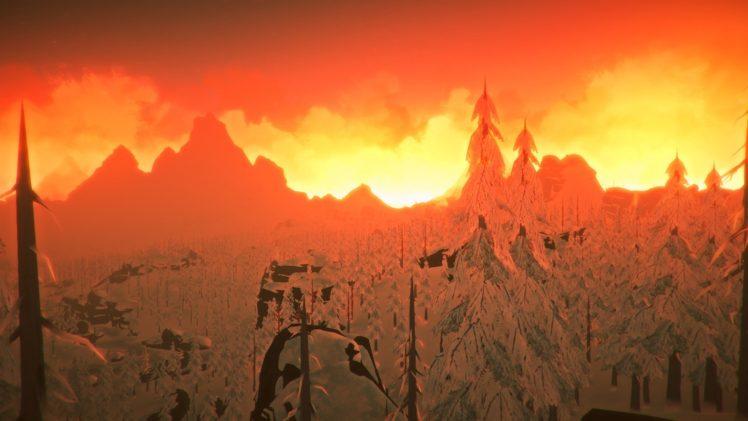snow, The Long Dark, Mountains, Landscape, Video games, Sunrise HD Wallpaper Desktop Background