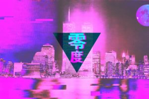 vaporwave, Glitch art, 3D, 3d design, Photoshop, Photo manipulation, Neon text, Windows 95