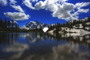 mountains, Landscape, Lake
