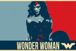 Wonder Woman, Gal Gadot, Mulher Maravilha, Poster, Justice League, Shield, DC Comics, Hope posters