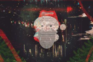 glitch art, New Year, Snow, Santa, Abstract