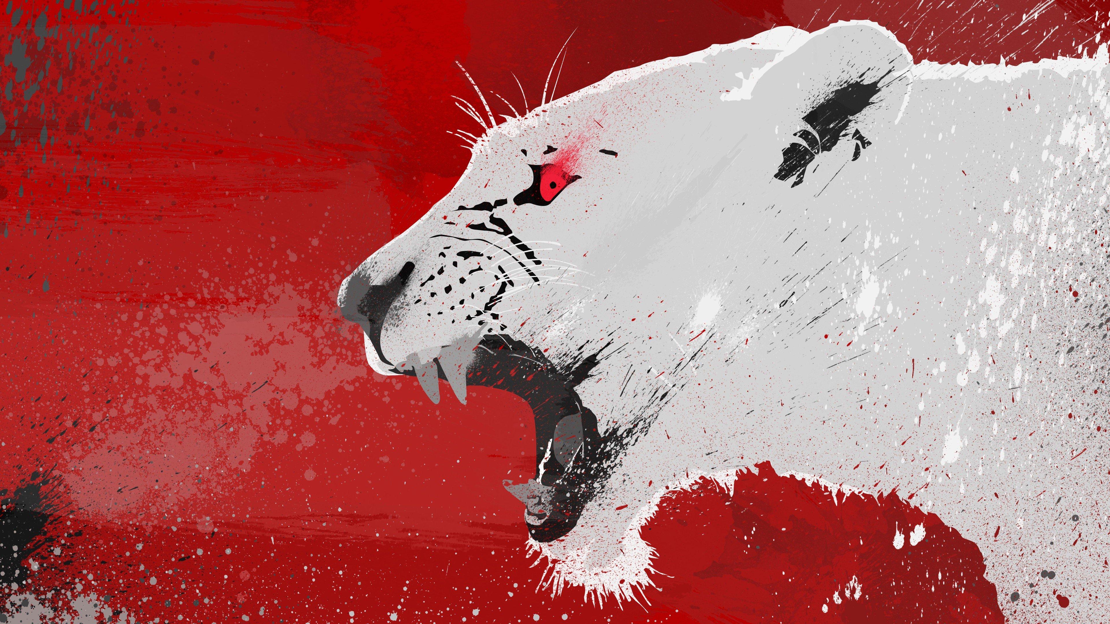 Red Eyes, Lion, Animals, Vector HD Wallpapers / Desktop