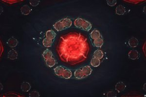 glitch art, Abstract, Red, Digital art