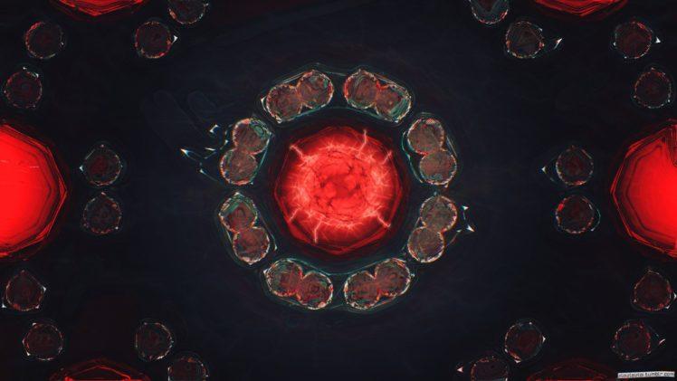 glitch art, Abstract, Red, Digital art HD Wallpaper Desktop Background