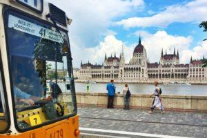 river, City, Budapest, Hungary, Tram, Hungarian Parliament Building