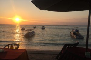 Bali, Sunset, Sea