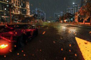 The Crew Wild Run, Lamborghini Gallardo Superleggera LP570, Burnout, Heavy rain