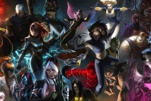 Magneto, Ororo Monroe, X 23, Shatterstar, Mystique, The Blob, Bishop, X Men, Juggernaut, Cable, Rogue, Archangel, Pixie, Omega Red