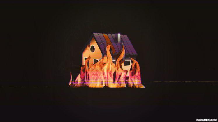 Glitch Art Wallpapers Hd Desktop And Mobile Backgrounds: Glitch Art, Building, Fire, House HD Wallpapers / Desktop