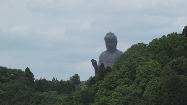 Buddha, Buddhism, Statue, Forest, Trees, Green HD Wallpaper Desktop Background