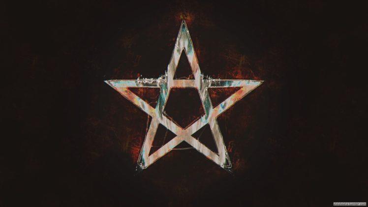 glitch art, Pentagram, Abstract, Stars HD Wallpaper Desktop Background