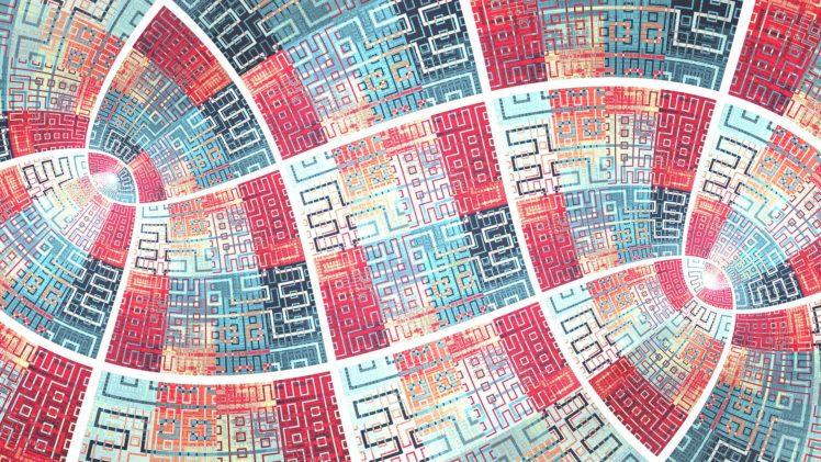 fractal, Abstract, Artwork, Digital art, Square, Pattern HD Wallpaper Desktop Background