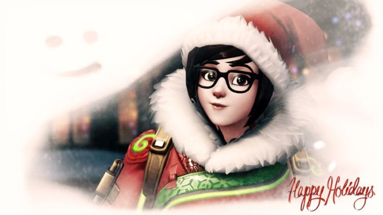 Mei (Overwatch), Overwatch, Christmas HD Wallpaper Desktop Background