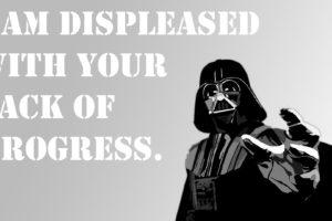 Darth Vader, Motivational, Text, Simple background