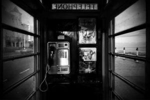 monochrome, Phone box