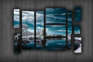 selective coloring, Picture frames