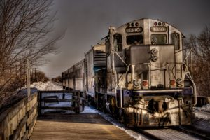 train, HDR, Winter, Montreal, STM, GP9, Commuter, Canada