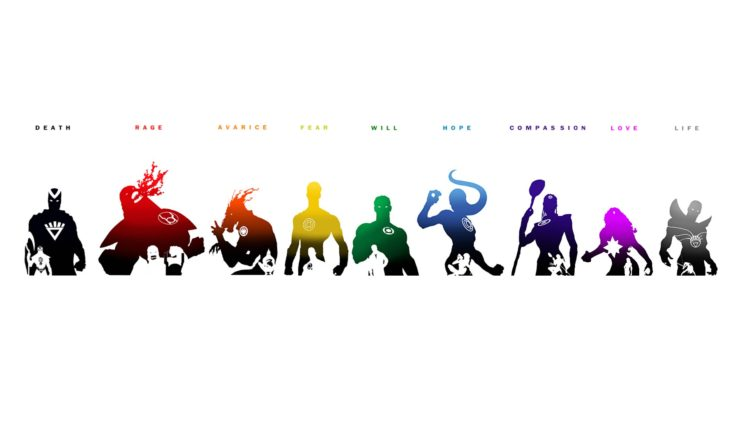 Green Lantern, Larfleeze, Atrocitus, DC Comics, Superhero, Emotional Spectrum, Hal Jordan, Sinestro HD Wallpaper Desktop Background