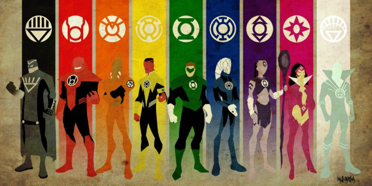 Green Lantern Dc Comics Superhero Emotional Spectrum Hal Jordan