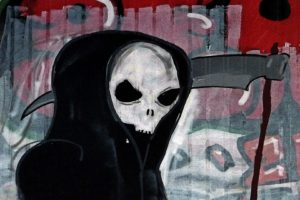 Grim Reaper, Artwork, Skull, Graffiti