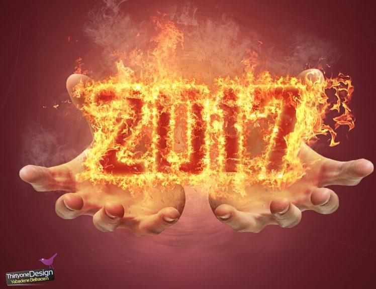 newyear, 2017 (Year), Fire HD Wallpaper Desktop Background