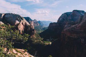 nature, Trees, Mountains