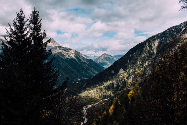 nature, Trees, Snow, Mountains HD Wallpaper Desktop Background