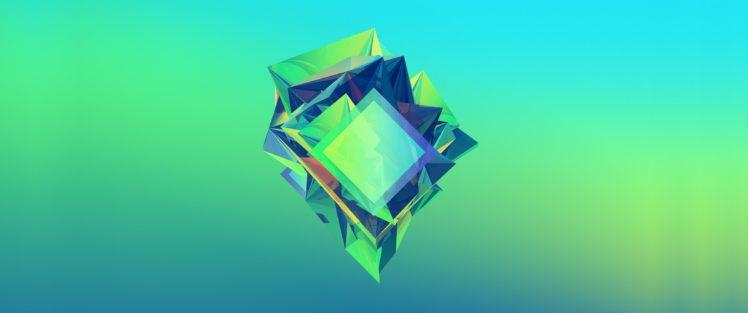Justin Maller, Abstract, Facets HD Wallpaper Desktop Background