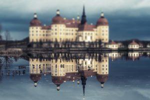 moritzburg castle, Reflection, Water