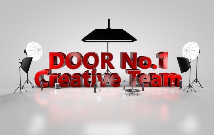 door, Team, Creativity, 3D HD Wallpaper Desktop Background