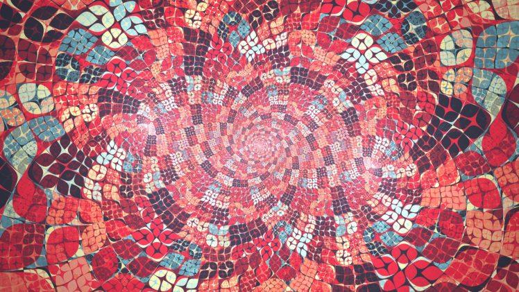 truchets, Abstract, Fractal, Artwork, Digital art, Red HD Wallpaper Desktop Background