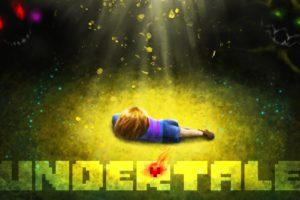 heart, Undertale, Artwork, Grass, Video games