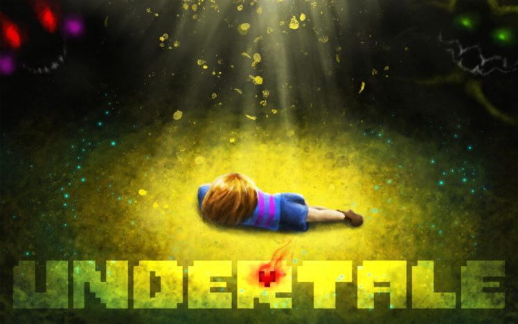 heart, Undertale, Artwork, Grass, Video games HD Wallpaper Desktop Background