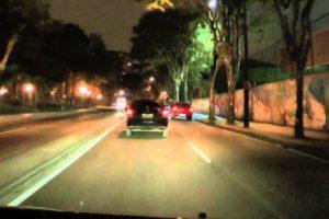 city, Curitiba, Elephant, Wall, Car, Night, Light Cycle, Digital art