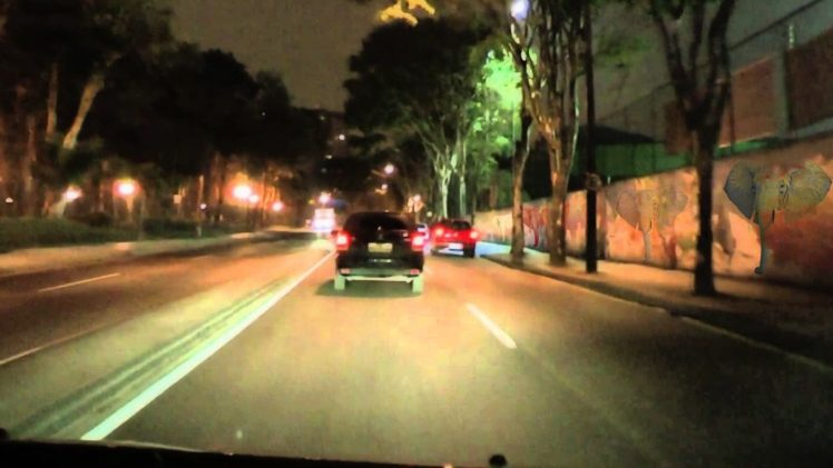 city, Curitiba, Elephant, Wall, Car, Night, Light Cycle, Digital art HD Wallpaper Desktop Background