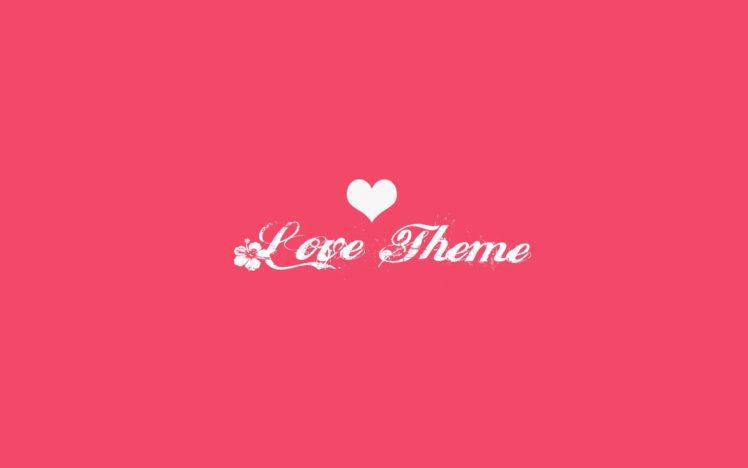 heart, Love, Pink, Simple, Minimalism HD Wallpaper Desktop Background