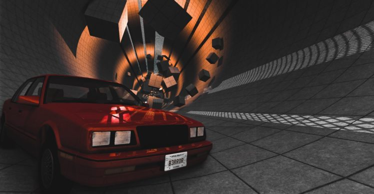 beamng, Car, Tunnel, Red HD Wallpaper Desktop Background