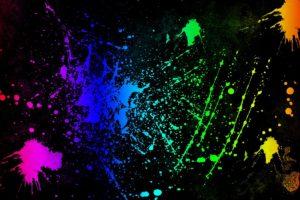 colorful, Paint splatter
