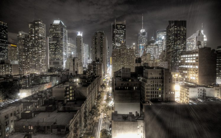 HDR, Cityscape, Night HD Wallpaper Desktop Background
