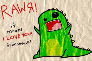 humor, Dinosaurs, Wrinkled paper