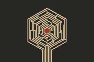 Haken, Affinity, The Architect, Booklet art, Minimalism, Artwork, Simple background