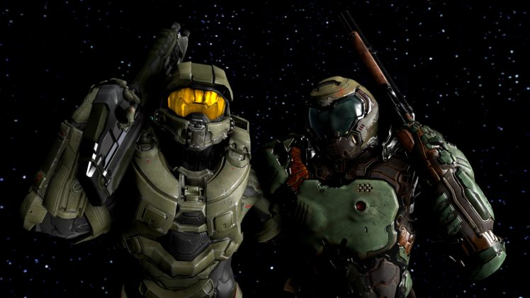 Master Chief Source Filmmaker Halo 5 Guardians Doom 4 Doom Game Hd Wallpapers Desktop And Mobile Images Photos