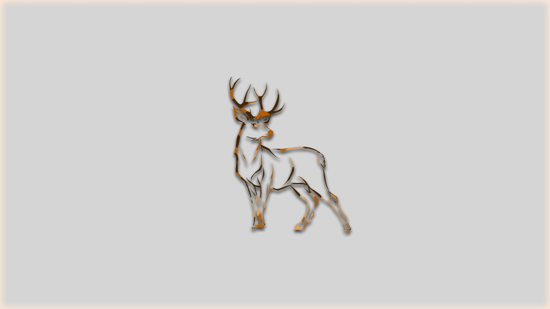 Deer simple animals brown hd wallpapers desktop and - Browning deer cell phone wallpaper ...