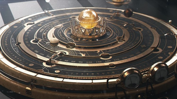 astrolabe, Steampunk, Planet, Astronomy HD Wallpaper Desktop Background