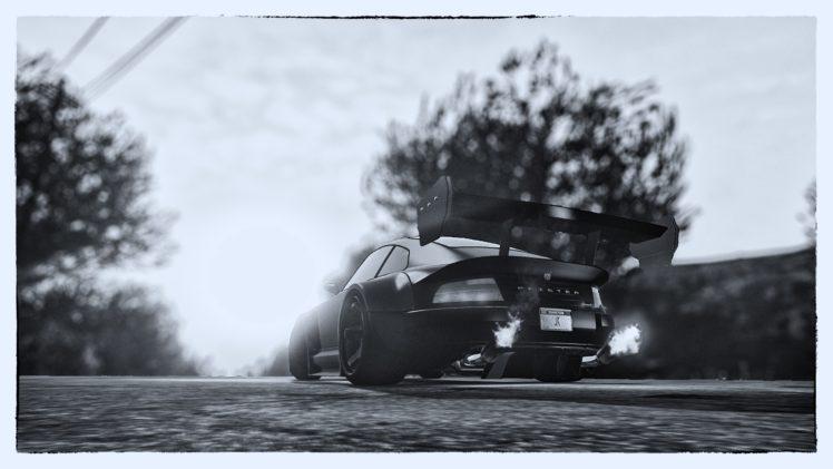 Grand Theft Auto V, Sun rays, Car HD Wallpaper Desktop Background